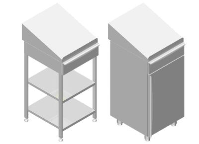 edelstahl stehpulte schreibpulte schreibtische mit schublade metalpharm. Black Bedroom Furniture Sets. Home Design Ideas