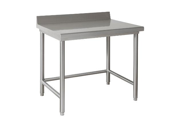 Tavoli in acciaio inox da lavoro serie leggera con sponda