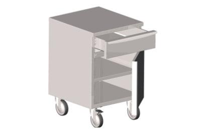 edelstahl unterschr nke mit schubladen und fl gelt r auf rollen modulwagen unterschr nke. Black Bedroom Furniture Sets. Home Design Ideas