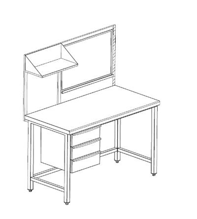 cassettiera con tavolo camera : cassettiera e scrittoi tavolo da lavoro con cassettiera a 3 cassetti e ...