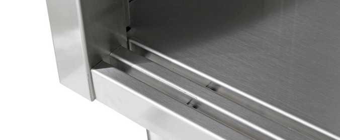 Armadi verticali acciaio inox con ante scorrevoli